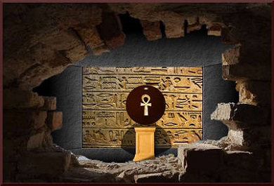 Crypt containing Egyptian Ankh