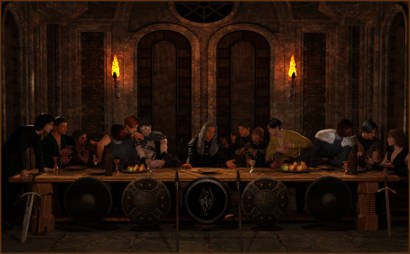 Last Supper remade with barbarians