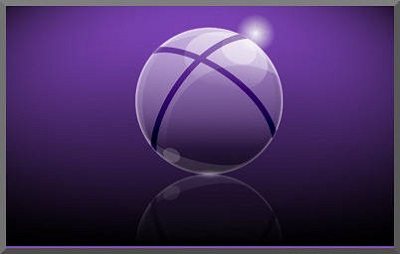 Semi-transparent Purple Sphere