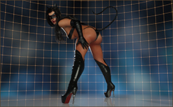 Catwoman as Stripper
