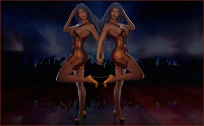 Two Women in Mirrored Poses